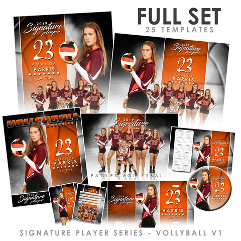 Signature Player - Volleyball - V1 - T&I Extraction Collection Downloadable Template Photo Solutions PSMGraphix