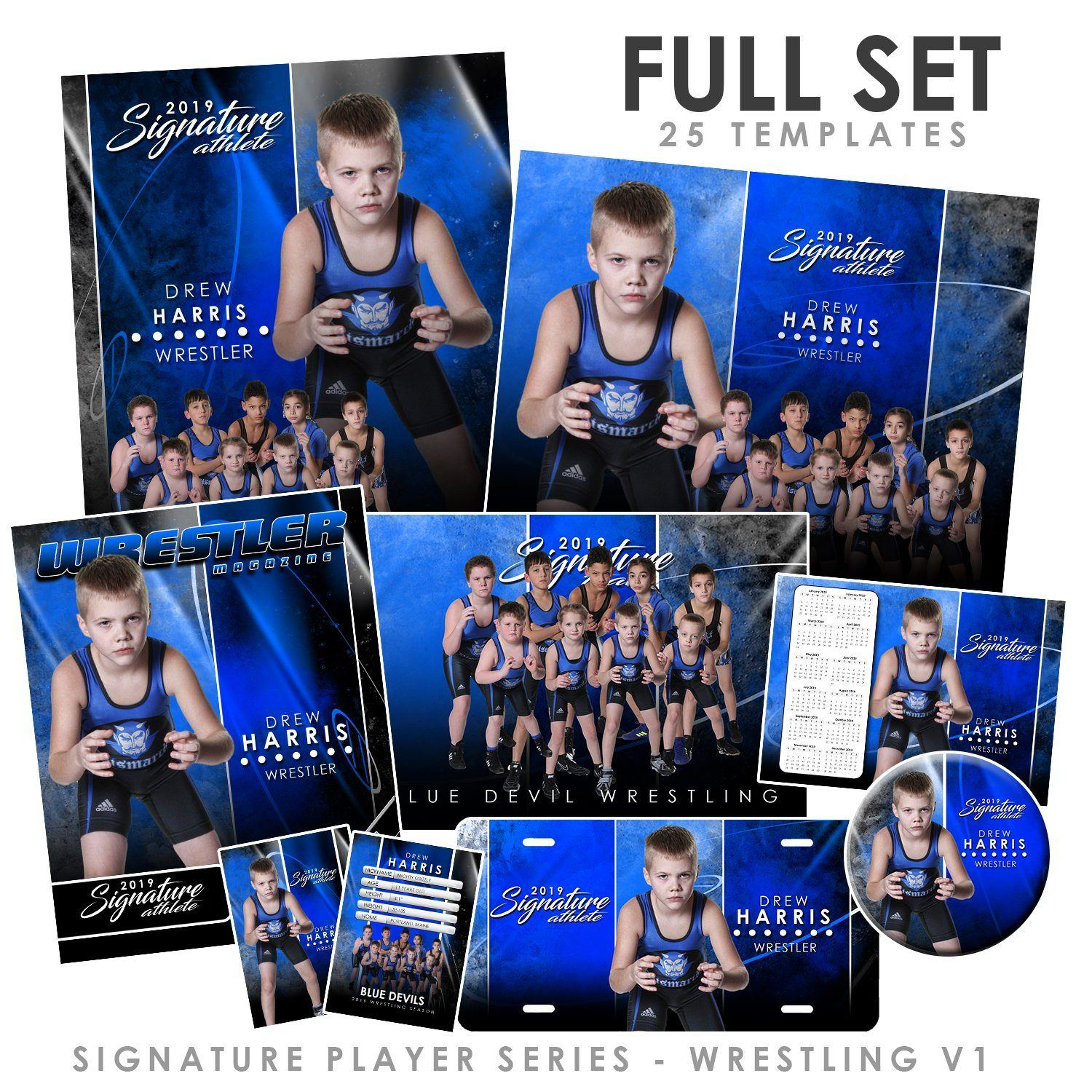 Signature Player - Wrestling - V1 - T&I Extraction Collection-Photoshop Template - Photo Solutions