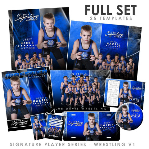 Signature Player - Wrestling - V1 - T&I Extraction Collection Downloadable Template Photo Solutions PSMGraphix