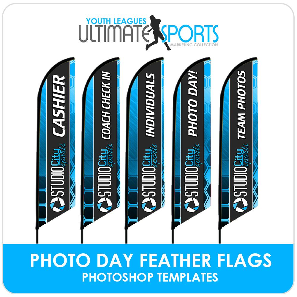 Photo Day Feather Flags - Ultimate Youth Sports Marketing Templates-Photoshop Template - Photo Solutions