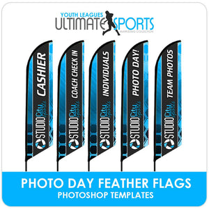 Photo Day Feather Flags - Ultimate Youth Sports Marketing Templates