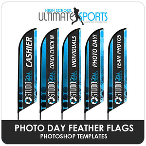 Photo Day Feather Flags - Ultimate High School Sports Marketing Templates-Photoshop Template - Photo Solutions
