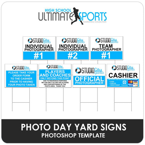Photo Day Signs - Ultimate High School Marketing Templates-Photoshop Template - Photo Solutions