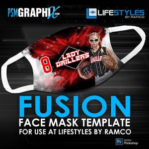 Fusion - Face Mask Template (Ramco)-Photoshop Template - PSMGraphix