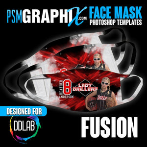 Fusion - Face Mask Template Set (DDLAB) 3 Sizes-Photoshop Template - PSMGraphix