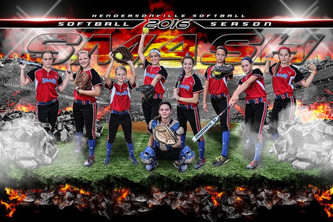 Broken Field V.2 - GroundBreaker - Team Poster/Banner-Photoshop Template - Photo Solutions