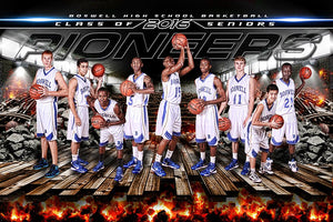 Busted Court V.2 - GroundBreaker - Team Poster/Banner-Photoshop Template - Photo Solutions