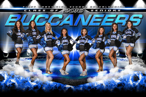 Cheer Stage - GroundBreaker - Team Poster/Banner-Photoshop Template - Photo Solutions