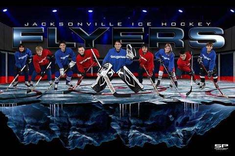 Cracked Ice - GroundBreaker - Team Poster/Banner-Photoshop Template - Photo Solutions