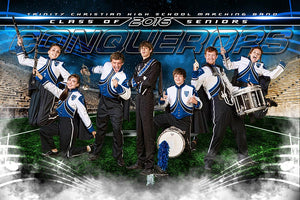 Marching Band - GroundBreaker - Team Poster/Banner-Photoshop Template - Photo Solutions
