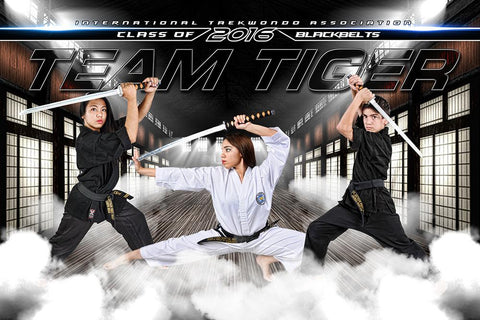 Martial Arts - GroundBreaker - Team Poster/Banner-Photoshop Template - Photo Solutions