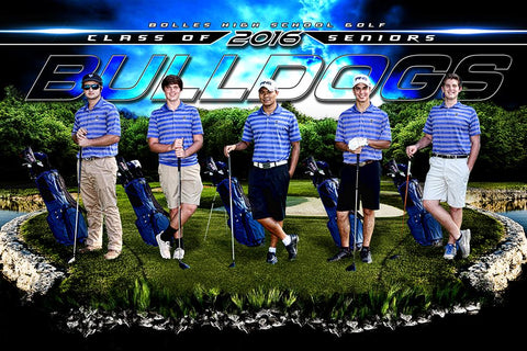 Tee Off V.2 - GroundBreaker - Team Poster/Banner-Photoshop Template - Photo Solutions