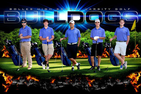 Tee Off - GroundBreaker - Team Poster/Banner-Photoshop Template - Photo Solutions