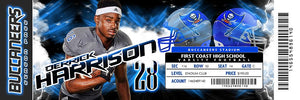 Fusion - V.5 - Game Day Ticket - Panoramic Downloadable Template Photo Solutions PSMGraphix
