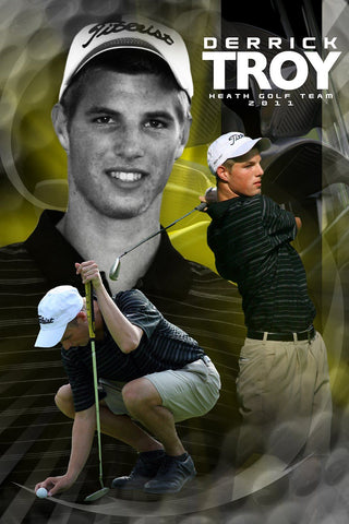 Golf v.5 - Action Extraction Poster/Banner-Photoshop Template - Photo Solutions