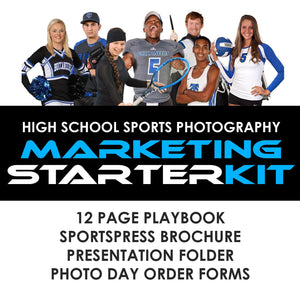 03 High School Sports Marketing - STARTER KIT Downloadable Template Photo Solutions PSMGraphix