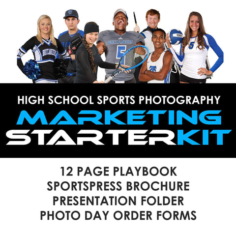 03 High School Sports Marketing - STARTER KIT Photoshop Template -  PSMGraphix