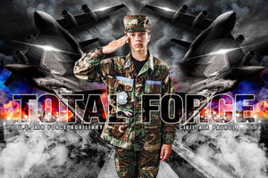 Air Force - V.1 - Heroes Series - Poster/Banner H Downloadable Template Photo Solutions PSMGraphix