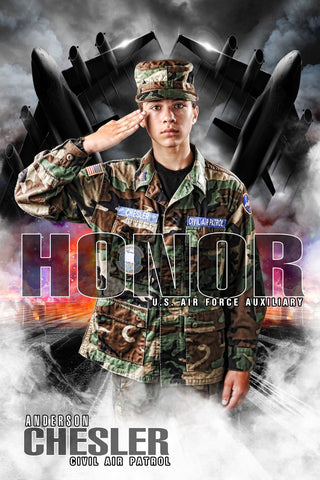Air Force - V.1 - Heroes Series - Poster/Banner-Photoshop Template - Photo Solutions