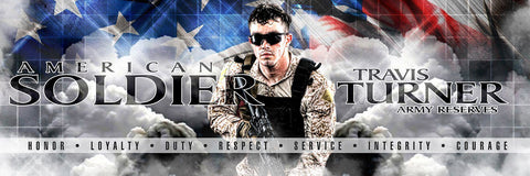 American Soldier - V.1 - Poster/Banner Panoramic Downloadable Template Photo Solutions PSMGraphix