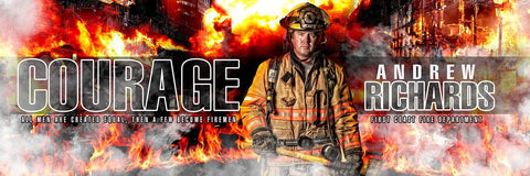 Fireman - V.1 - Poster/Banner Panoramic-Photoshop Template - Photo Solutions