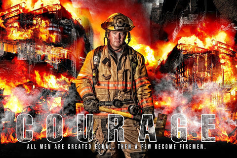 Fireman - V.1 - Heroes Series - Poster/Banner H-Photoshop Template - Photo Solutions
