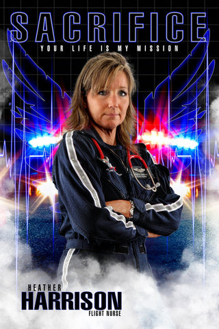 EMT Flight Nurse - V.1 - Heroes Series - Poster/Banner-Photoshop Template - Photo Solutions