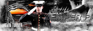 Marine/Navy - V.1 - Poster/Banner Panoramic-Photoshop Template - Photo Solutions