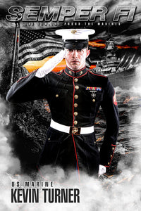 Marine/Navy - V.1 - Heroes Series - Poster/Banner-Photoshop Template - Photo Solutions