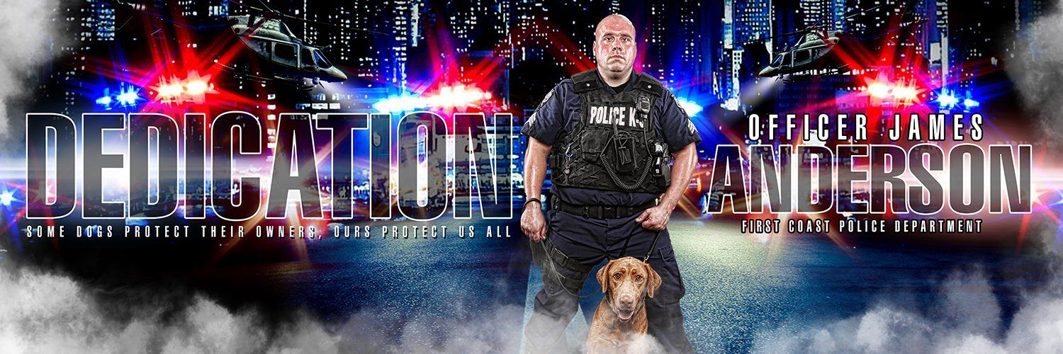 Police - V.1 - Poster/Banner Panoramic-Photoshop Template - Photo Solutions