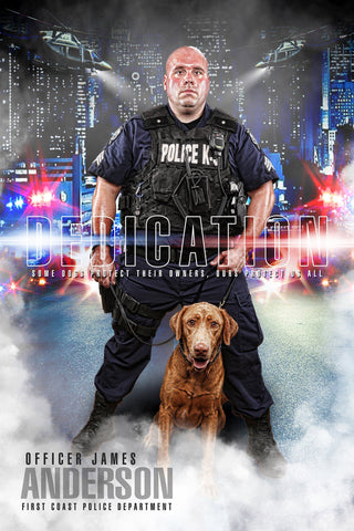 Police - V.1 - Heroes Series - Poster/Banner-Photoshop Template - Photo Solutions