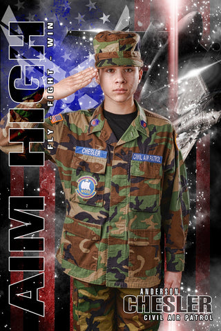 Air Force - V.2 - Heroes Series - Poster/Banner-Photoshop Template - Photo Solutions