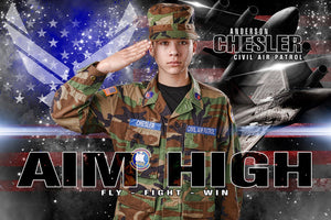 Air Force - V.2 - Heroes Series - Poster/Banner H Downloadable Template Photo Solutions PSMGraphix