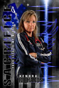 EMT Flight Nurse - V.2 - Heroes Series - Poster/Banner-Photoshop Template - Photo Solutions