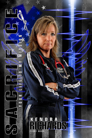 EMT Flight Nurse - V.2 - Heroes Series - Poster/Banner