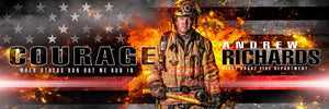 Fireman - V.2 - Poster/Banner Panoramic Photoshop Template -  PSMGraphix