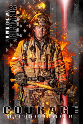 Fireman - V.2 - Heroes Series - Poster/Banner-Photoshop Template - Photo Solutions