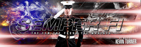 Marine/Navy - V.2 - Poster/Banner Panoramic-Photoshop Template - Photo Solutions