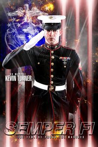 Marine/Navy - V.2 - Heroes Series - Poster/Banner-Photoshop Template - Photo Solutions