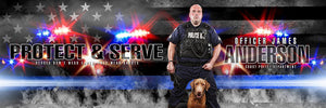 Police - V.2 - Poster/Banner Panoramic-Photoshop Template - Photo Solutions