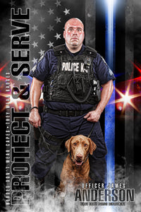 Police - V.2 - Heroes Series - Poster/Banner-Photoshop Template - Photo Solutions