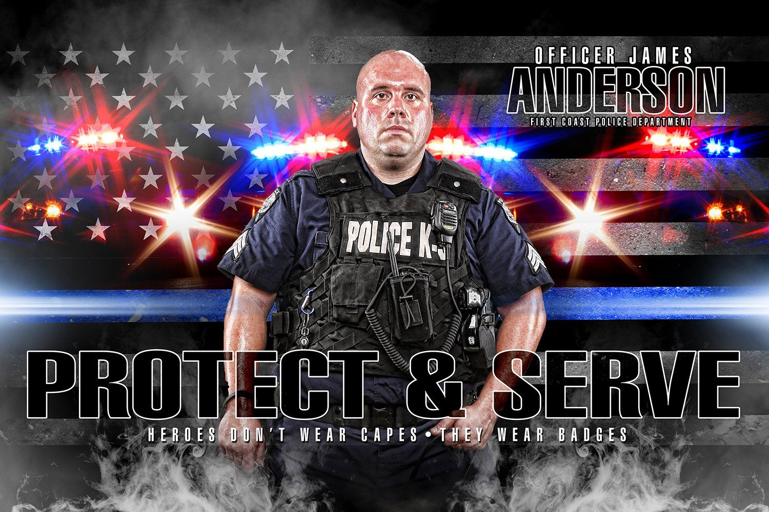 Police - V.2 - Heroes Series - Poster/Banner H-Photoshop Template - Photo Solutions