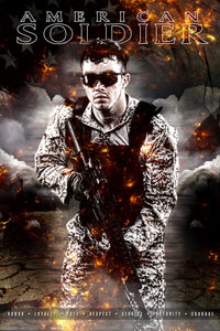 American Soldier - V.3 - Heroes Series - Poster/Banner Downloadable Template Photo Solutions PSMGraphix