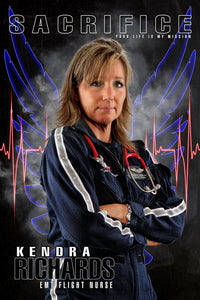 EMT Flight Nurse - V.3 - Heroes Series - Poster/Banner-Photoshop Template - Photo Solutions