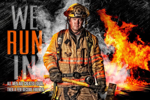 Fireman - V.3 - Heroes Series - Poster/Banner H-Photoshop Template - Photo Solutions