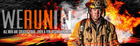 Fireman- V.3 - Poster/Banner Panoramic Photoshop Template -  PSMGraphix