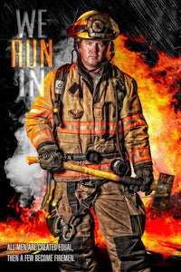Fireman - V.3 - Heroes Series - Poster/Banner-Photoshop Template - Photo Solutions