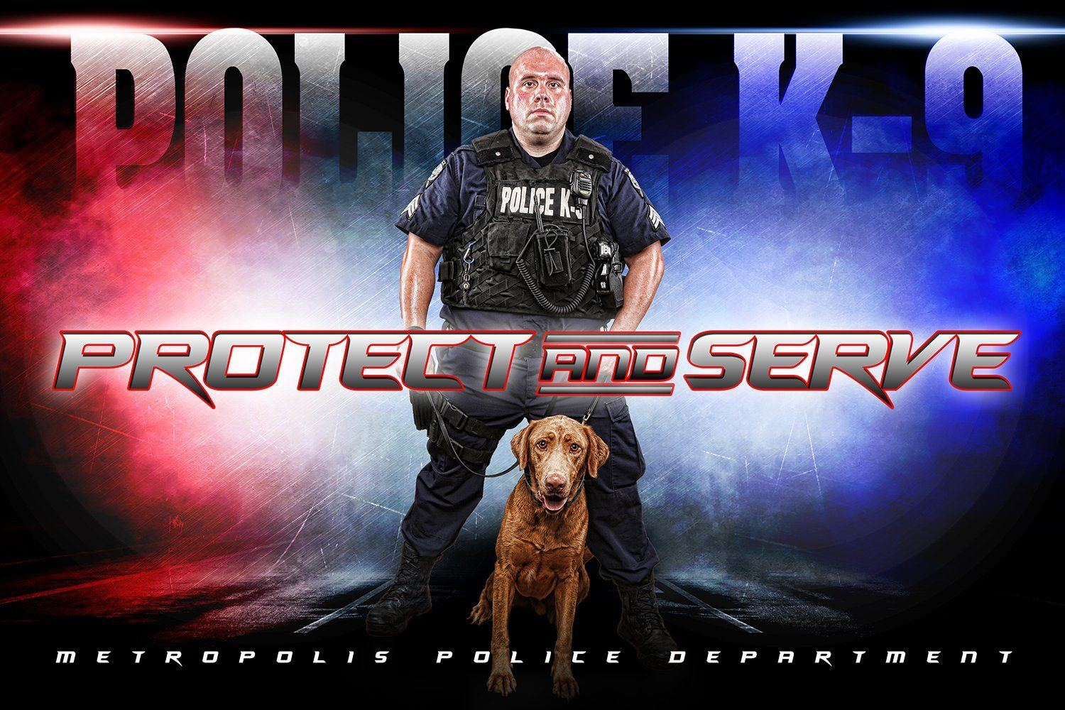Police - V.3 - Heroes Series - Poster/Banner H-Photoshop Template - Photo Solutions