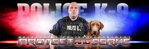 Police- V.3 - Poster/Banner Panoramic-Photoshop Template - Photo Solutions