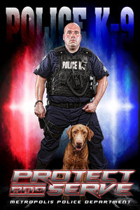 Police - V.3 - Heroes Series - Poster/Banner-Photoshop Template - Photo Solutions